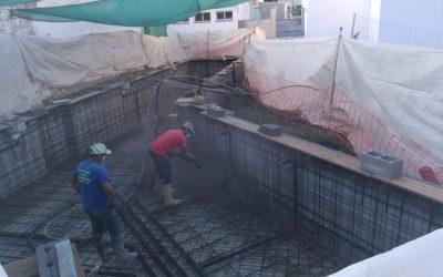 Piscina Municipal de Agrón en proceso