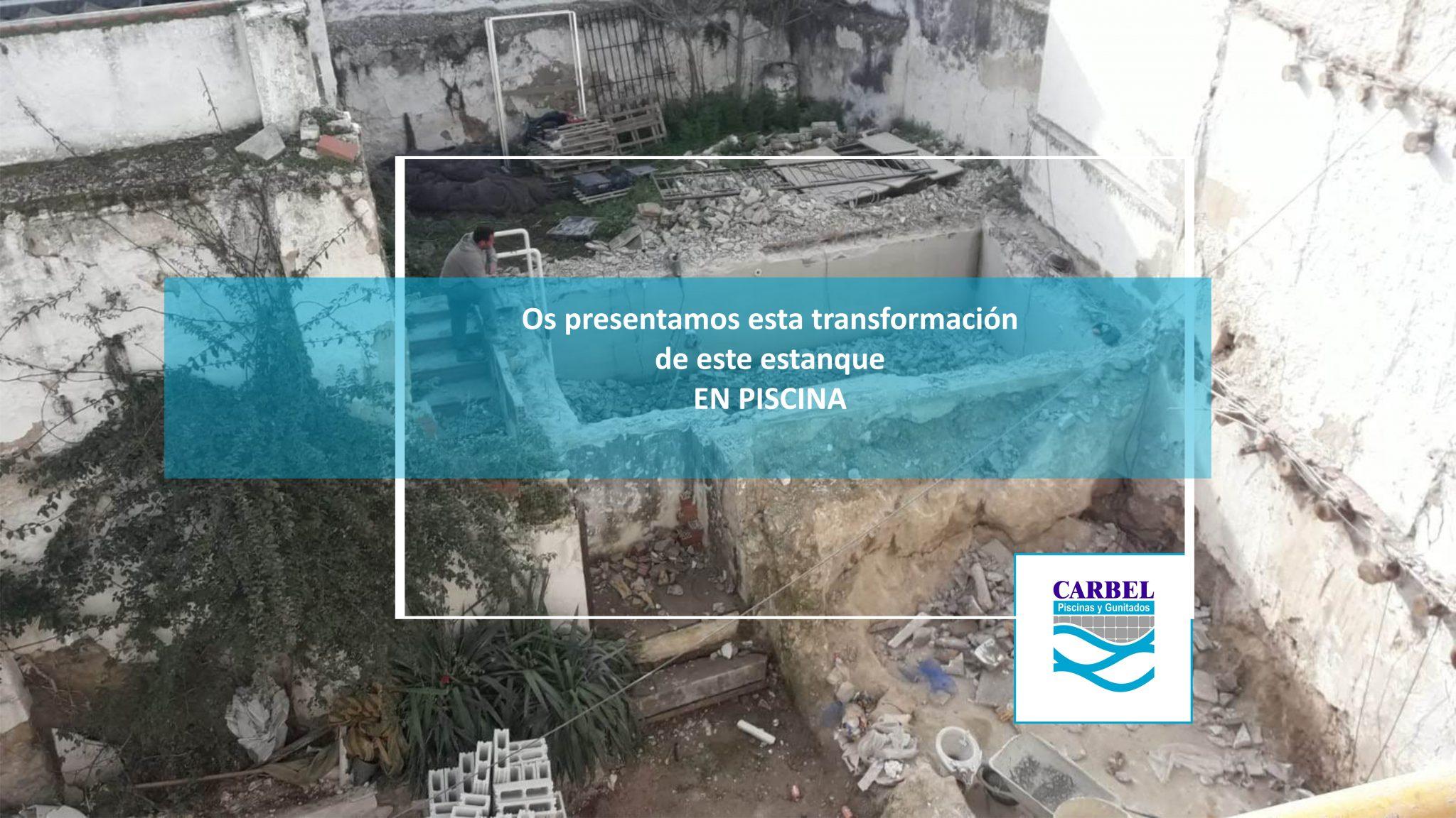 Transformación de estanque en Piscina