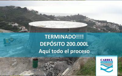 Construcción Depósito de 200.000l Todo el proceso